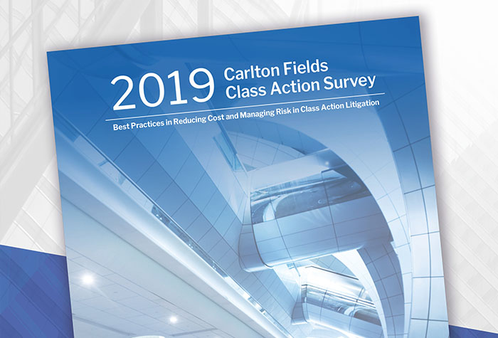 Carlton Fields Releases Annual Class Action Survey Results