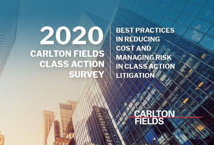 2020 Carlton Fields Class Action Survey Findings Featured in Media