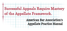 Successful appeals require mastery of the appellate framework - ABA Appellate Practice Manual