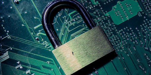 Lock Computer Chip