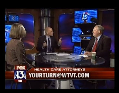 """Tampa health care attorneys James Kennedy and Linda Fleming on """"Your Turn with Russell Rhodes."""""""