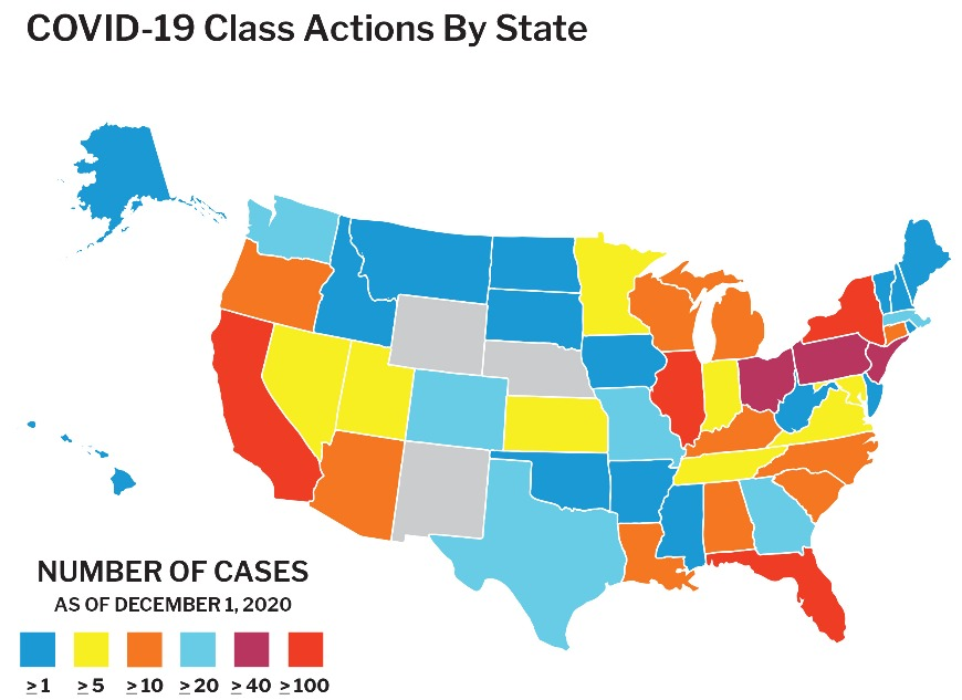 COVID-19 Class Actions By State